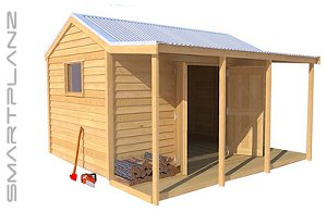 TImber Veranda Shed